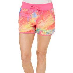 Reel Legends Womens Keep It Cool Vibrant Palm Leaf Shorts