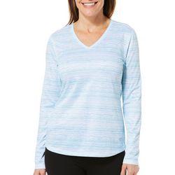 Reel Legends Womens Freeline Broken Stripe Long Sleeve Top