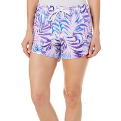 Reel Legends Womens Adventure Splatter Palm Pull On Shorts