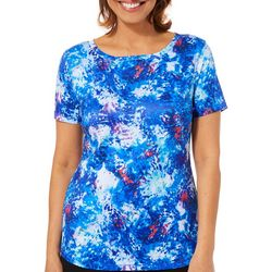 Reel Legends Womens Freeline Organic Splatter Top