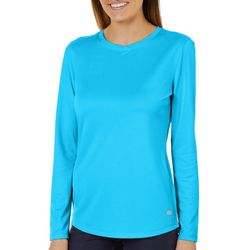 Reel Legends Womens Freeline Shimmer Long Sleeve Top