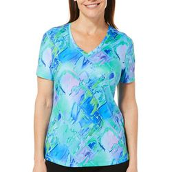 Reel Legends Womens Freeline Scattered Diamonds Top
