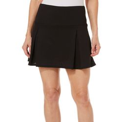 Reel Legends Womens Keep It Cool Pleated Solid Skort