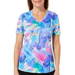 Reel Legends Womens Freeline Rainbow Rock Short Sleeve Top