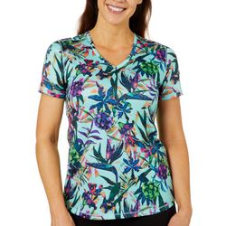 Reel Legends Womens Freeline Tropical Breeze Shimmer Top