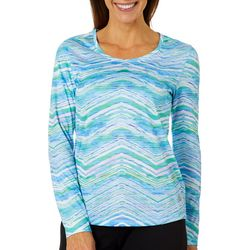 Reel Legends Womens Freeline Watercolor Chevron Top