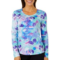 Reel Legends Womens Freeline Jellyfish Flow Long Sleeve Top