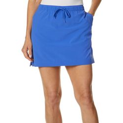 Reel Legends Womens Adventure Solid Drawstring Skort