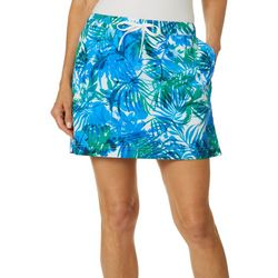 Reel Legends Womens Adventure Airy Palms Drawstring Skort