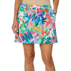 Reel Legends Womens Adventure Colorful Scribble Skort