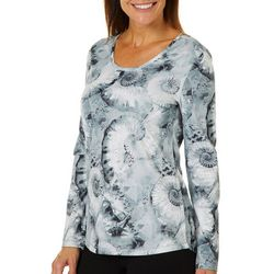 Reel Legends Womens Freeline Nautilus Shells Scoop Neck Top