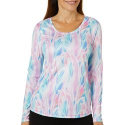 Reel Legends Womens Freeline Layered Leaf Long Sleeve Top