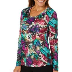 Reel Legends Womens Freeline Wing Collage Long Sleeve Top