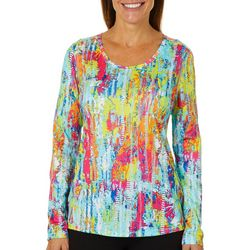 Reel Legends Womens Freeline Color Tracks Long Sleeve Top