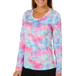 Reel Legends Womens Freeline Coral Escape Long Sleeve Top