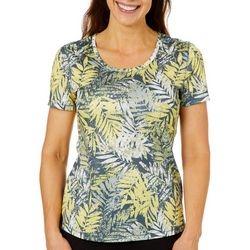 Reel Legends Womens Freeline Weathered Palms Top