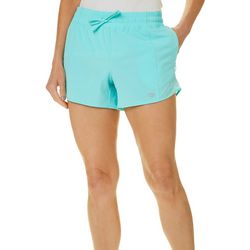 Reel Legends Womens Solid Mesh Detailed Pull On Shorts
