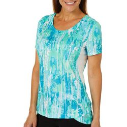 Reel Legends Womens Reel-Tec Color Tracks Short Sleeve Top