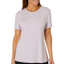 Reel Legends Womens Keep It Cool Space Dye Mesh Back Top