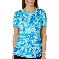 Reel Legends Womens Freeline Underwater Crew Neck Top