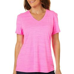 Reel Legends Womens Freeline Heathered Short Sleeve Top