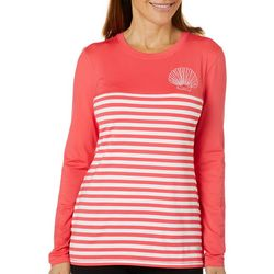 Reel Legends Juniors Keep It Cool Shell Stripe Top