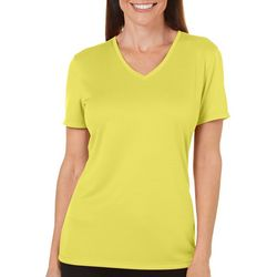 Reel Legends Womens Freeline Shimmer Solid Top
