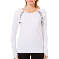 Reel Legends Womens Keep It Cool Watercolor Mesh Top