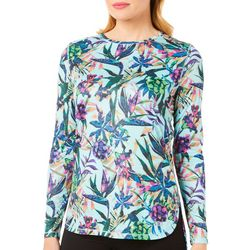 Reel Legends Womens Reel-Tec Tropical Floral Top