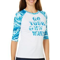 Reel Legends Womens Keep It Cool Go Your Own Wave Top