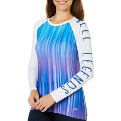 Reel Legends Womens Keep It Cool Aurora Brush Top