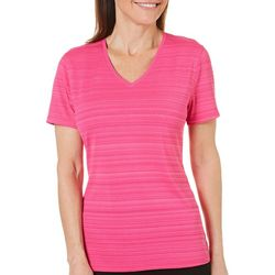 Reel Legends Womens Reel-Tec Barcode V-Neck Top