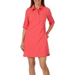 Reel Legends Womens Adventure Solid Shirtdress