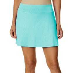 Reel Legends Womens Keep It Cool Sonic Web Debossed Skort