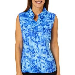 Reel Legends Womens Adventure Sleeveless Palm Underwater Top