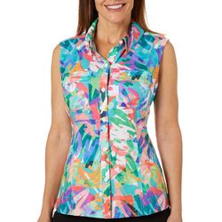 Reel Legends Womens Adventure Colorful Scribble Top