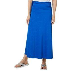 Reel Legends Womens Keep It Cool Crackle Deboss Maxi Skirt