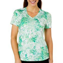 Reel Legends Womens Freeline Palms In The Jungle Shimmer Top
