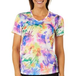 Reel Legends Womens Freeline Miami Palms V-Neck Top