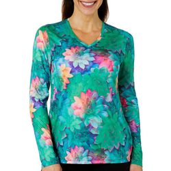 Reel Legends Womens Reel-Tec Rainbow Succulent Top