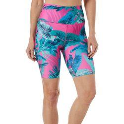Reel Legends Womens Keep It Cool Colorful Palms Bike Shorts