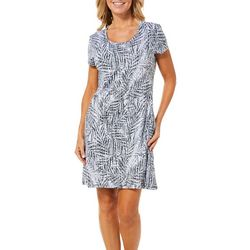 Reel Legends Womens Keep It Cool Textured Palms Sundress