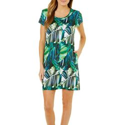 Reel Legends Womens Keep It Cool Exploded Leaves Dress