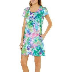 Reel Legends Womens Keep It Cool Watercolor Pocket Dress