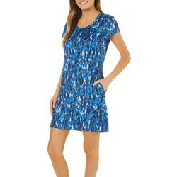 Reel Legends Womens Keep It Cool Wing Fling T-Shirt Dress