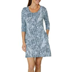 Reel Legends Womens Keep It Cool Textured Palms Dress