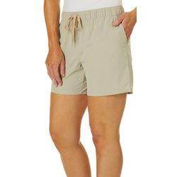 Reel Legends Womens Adventure Solid Pull On Shorts