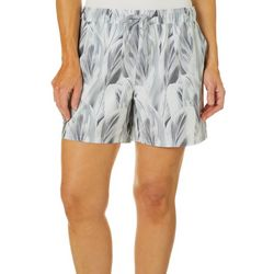 Reel Legends Womens Adventure Layered Leaves Pull On Shorts