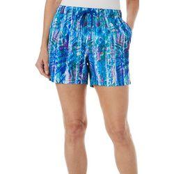 Reel Legends Womens Adventure Rainbow Palm Pull On Shorts