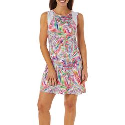 Reel Legends Womens Keep It Cool Jazzy Palms Dress